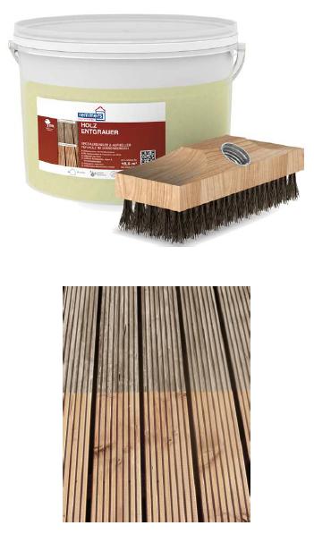 Holz-Entgrauer (Set)