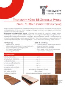Thermory Kőris BB Zsindely Panel telepítési útmutató