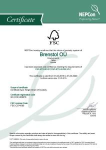 Brenstol FSC CoC cert Apr 2015_Oldal_1